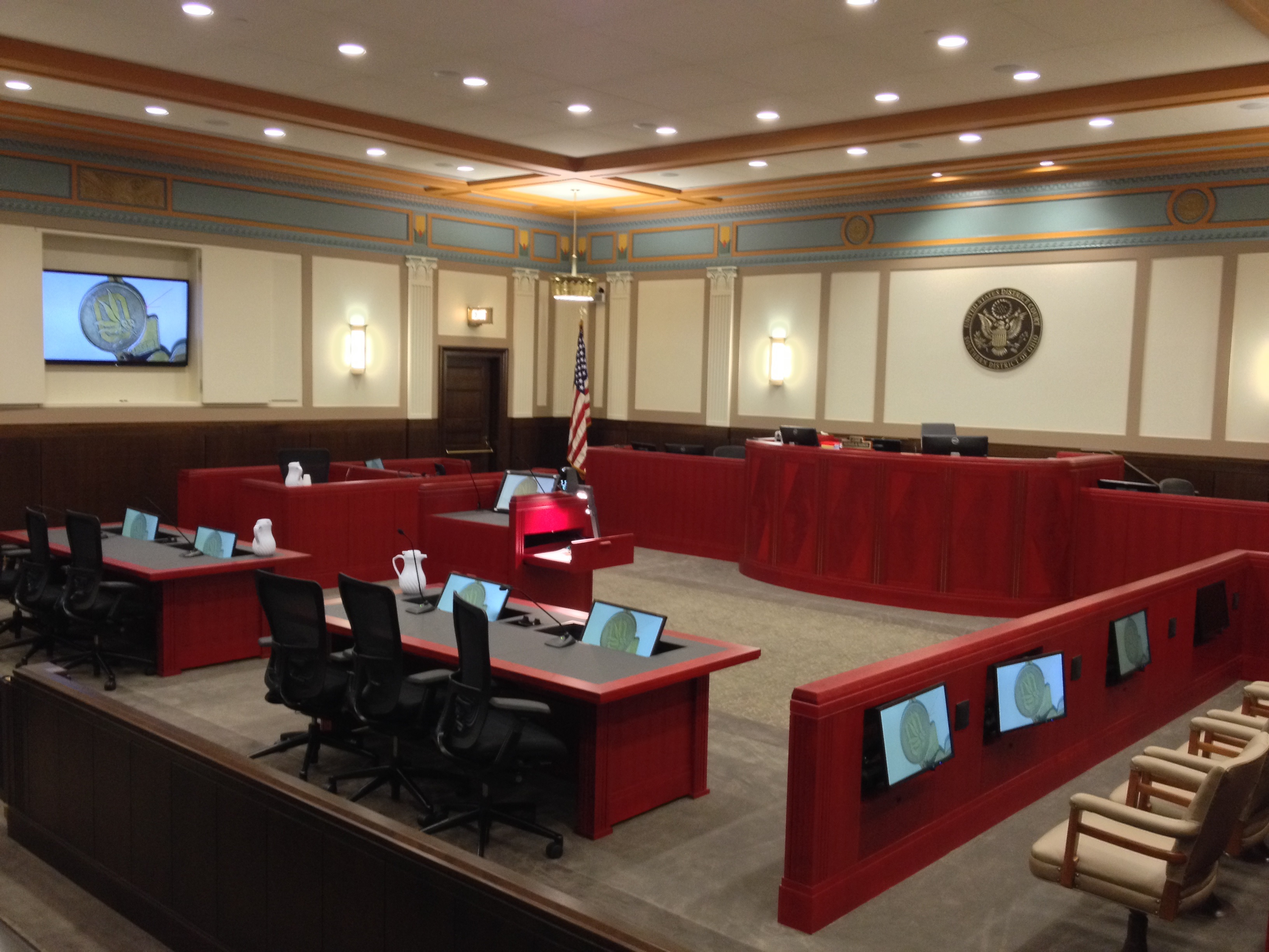 courtroom technology southern district of ohio united states