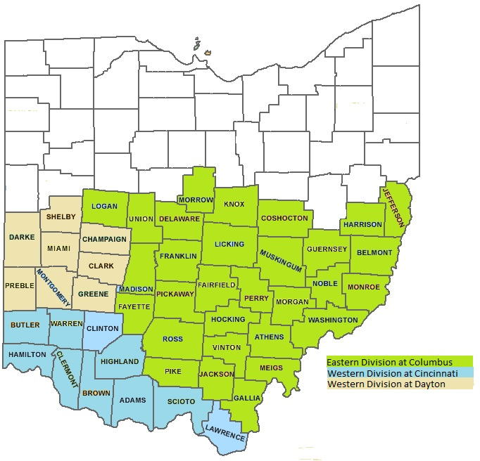 Map Of Southern Ohio About the Court | Southern District of Ohio | United States  Map Of Southern Ohio